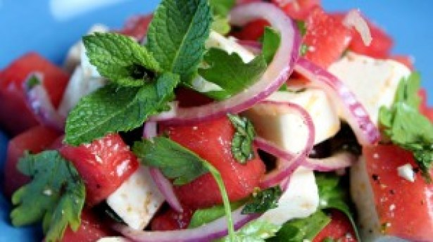 Refreshing Watermelon Salad, Healthy Living + Travel