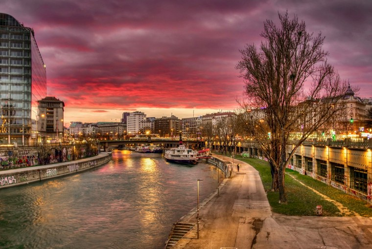 Vienna, Austria, Canal   Healthy Living + Travel
