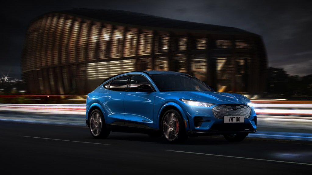 2021 Ford Mustang Mach-E Blue, Healthy Living + Travel
