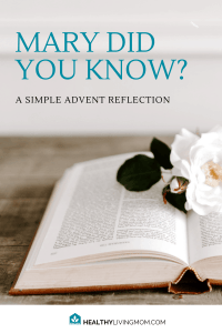 Mary did you know? Famously known for the song, but we know a lot about what Mary knew by looking at Mary's Song in Luke. Here's a simple advent reflection—or advent devotion to prepare your heart for celebrating Christmas.