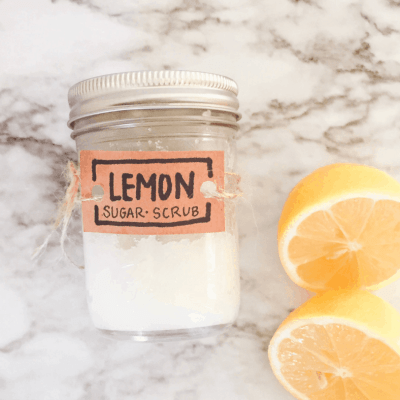 Lemon Sugar Scrub DIY (non toxic 3 ingredients)
