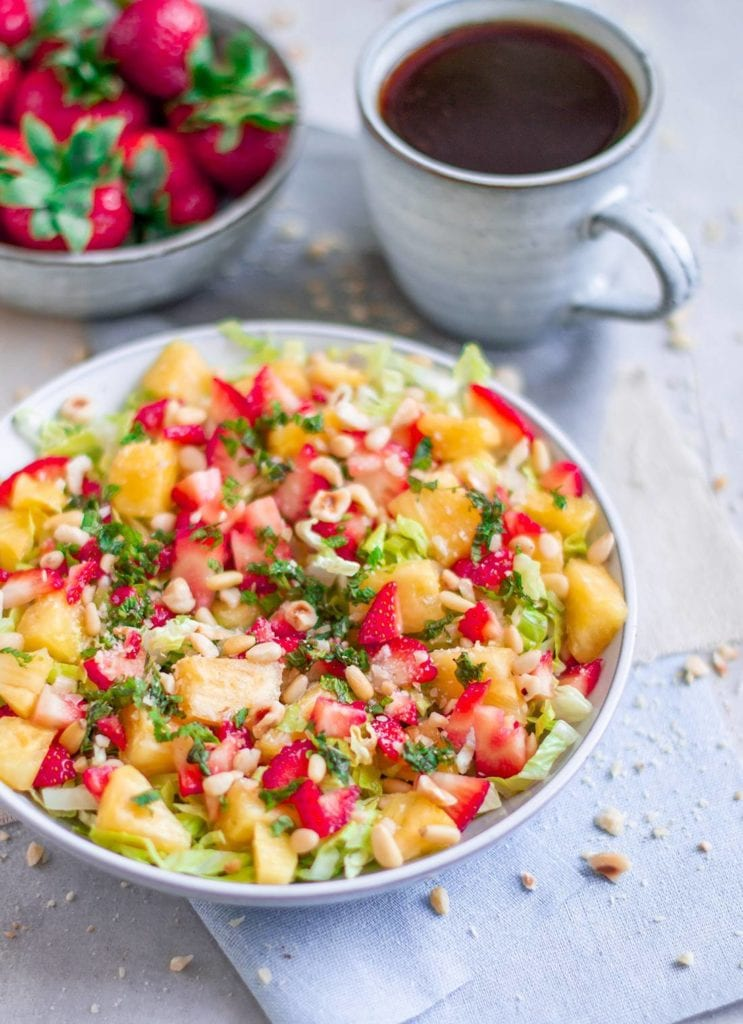 strawberry pineapple and chilli salad