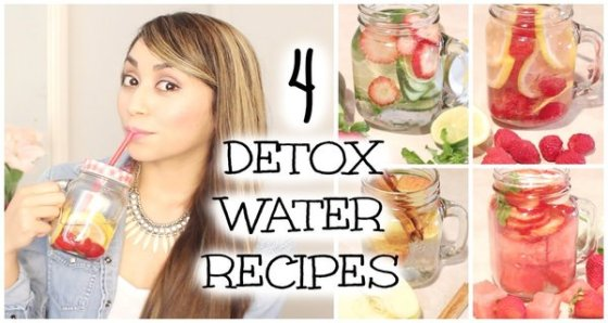 IDEAL FOR A FLAT BELLY-4 HOMEMADE DETOX DRINKS