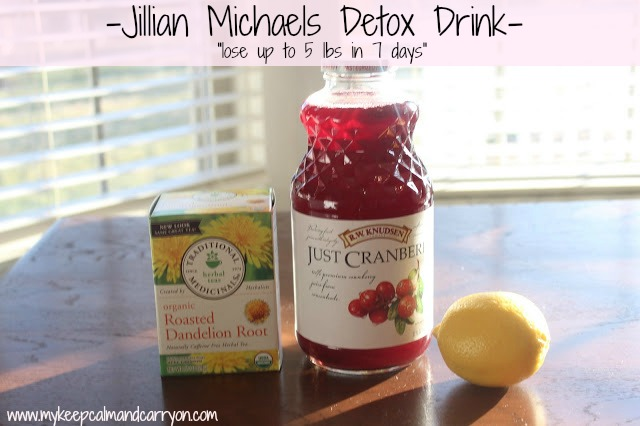 How to make the 7 Day Detox Drink as recommended by Jillian Michaels!