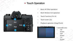 Kamera Fuji XT 100 tampak Belakang
