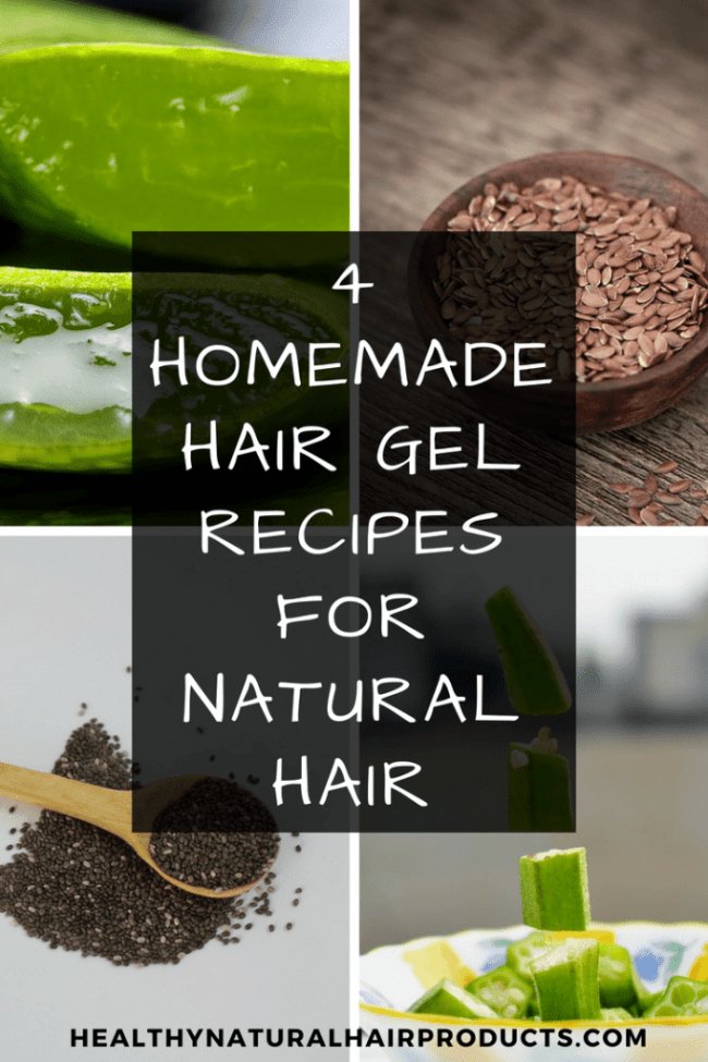 4 Homemade Hair Gel Recipes For Natural Hair