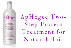 Product Review: ApHogee Two-Step Protein Treatment for Natural Hair