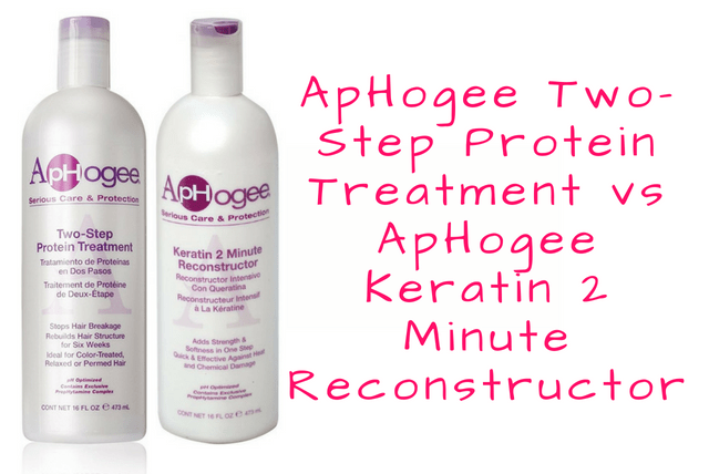 ApHogee Two-Step Protein Treatment vs ApHogee Keratin 2 Minute Reconstructor