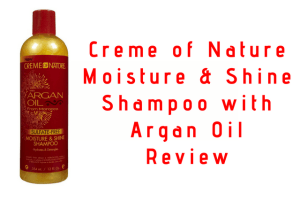 Creme of Nature Moisture & Shine Shampoo with Argan Oil for Natural Hair