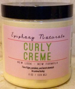 Epiphany Naturals Curly Creme with Argan Oil, max hydration method