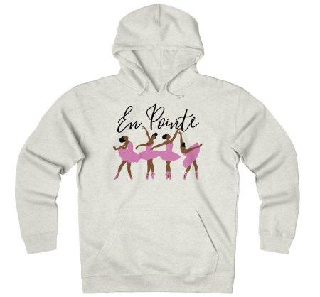 curly hair gift set, En Pointe Ballerina Unisex Heavyweight Fleece Hoodie