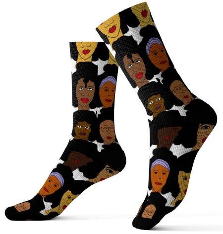 natural hair gifts, Afro Lady Natural Hair Art Socks