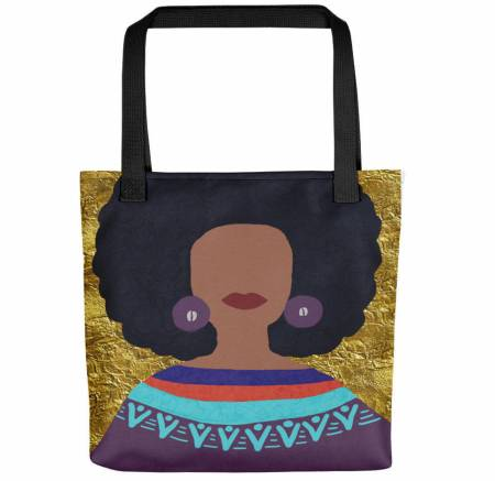 natural hair gifts, Afro Tote Bag,