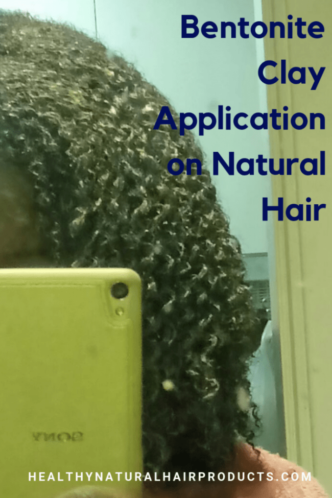 bentonite clay application on curly hair