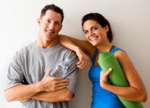 Happy Yoga Couple