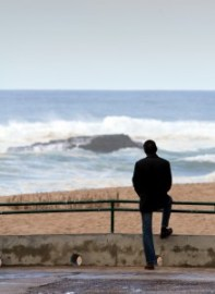 Thinking Man on Beach