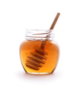 Honey in Clear Jar