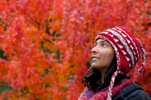 Smiling Woman Outside
