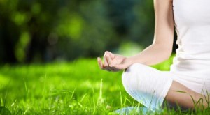 Lotus Yoga Pose in Nature