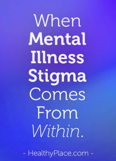Removing Self Stigma From Mental Health Labels