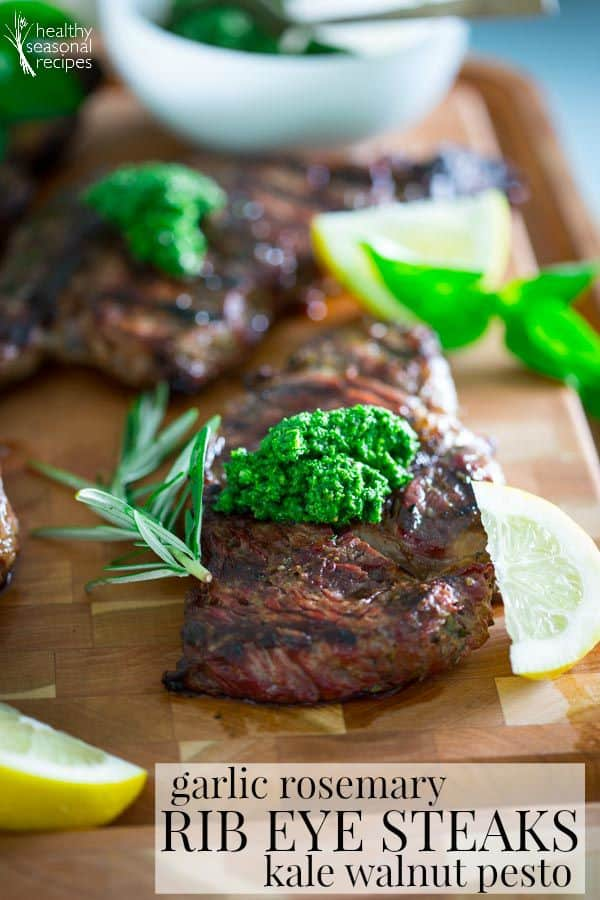 to Recipes, Food and Not-So-Healthy Living: garlic rosemary steaks ...