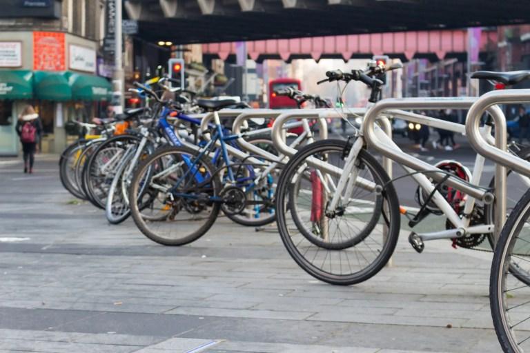 Secure bike parking