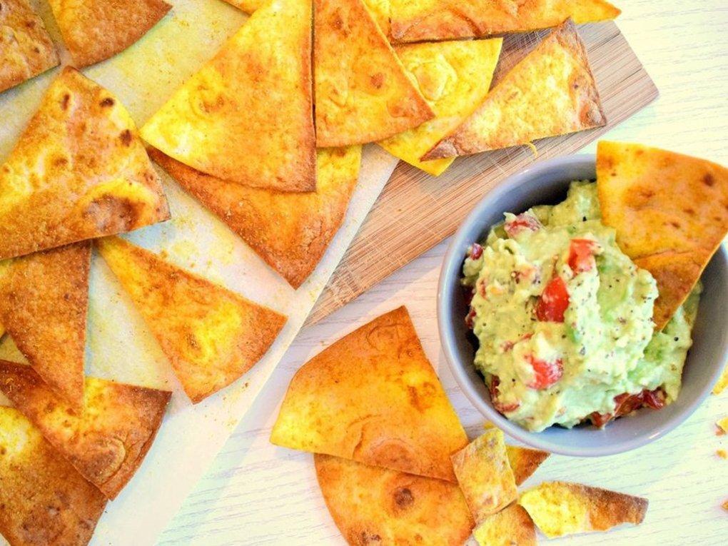 Gezonde tortilla chips recept | Gezond snack recept | Healthy Wanderlust