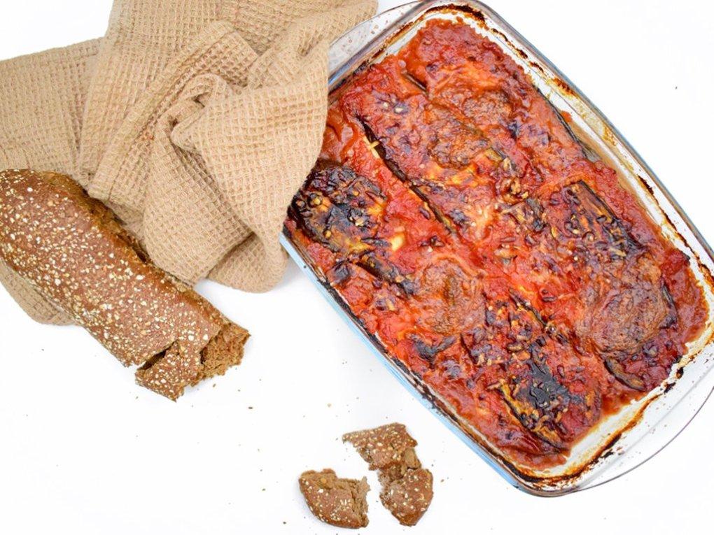 Aubergine lasagne | Vegetarisch lasagne recept | Healthy Wanderlust