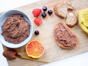 Chocolade hummus | Gezonde chocolade pasta | Recept voor kinderen