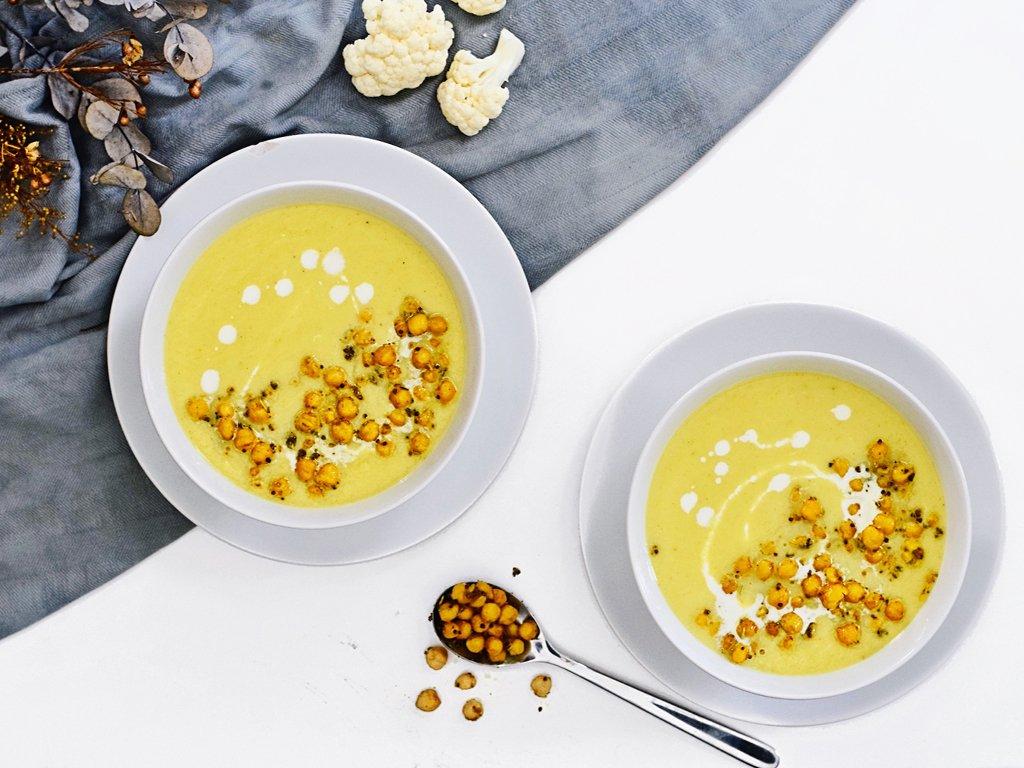 Bloemkool soep | Makkelijk soep recept | Healthy Wanderlust