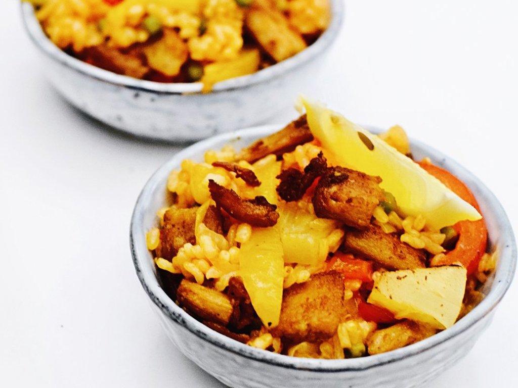 Vegan paella | Een heerlijk paella recept | Healthy Wanderlust