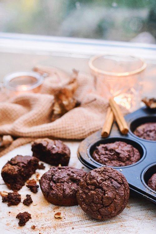 Chocolade muffins | Gezonde & vegan muffins | Healthy Wanderlust