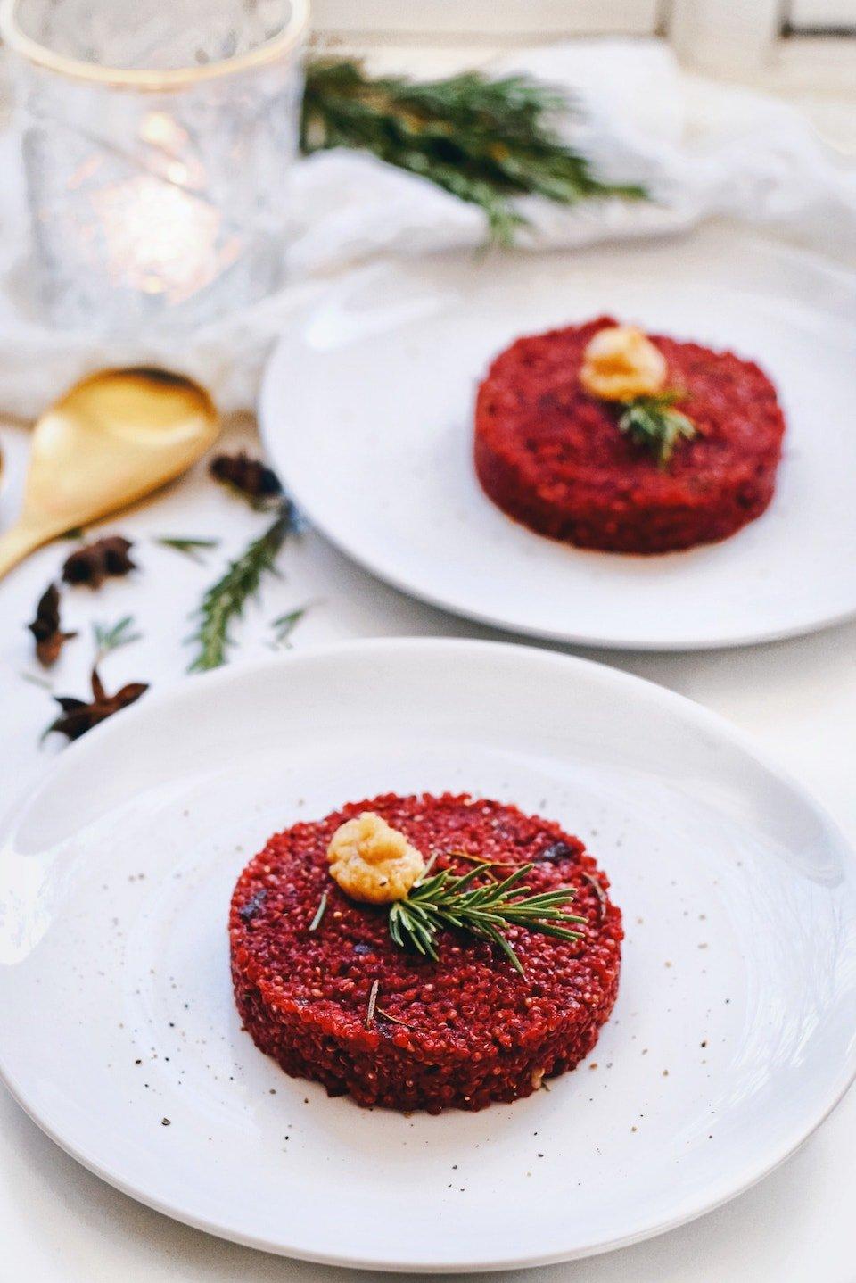 Kerst voorgerecht | Rode bieten tartaat | Vegetarisch kerst recept