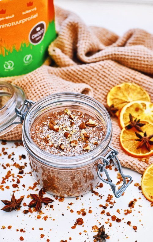 Gezond ontbijt | Overnight oats met chocolade en kokos