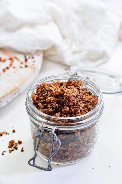 Pindakaas granola recept | Ontbijt recept