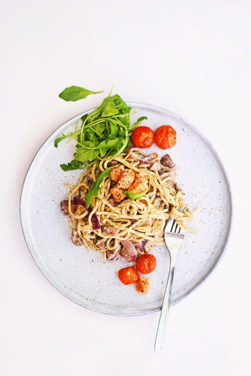 Fettucini pasta met truffel   Makkelijk recept