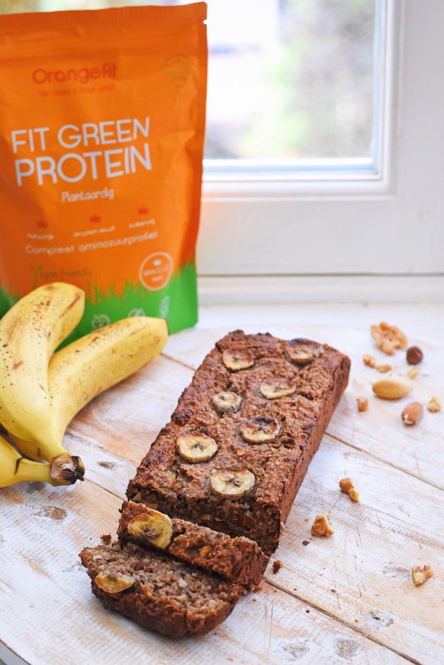 Eiwitrijk bananenbrood | Gezonde snack