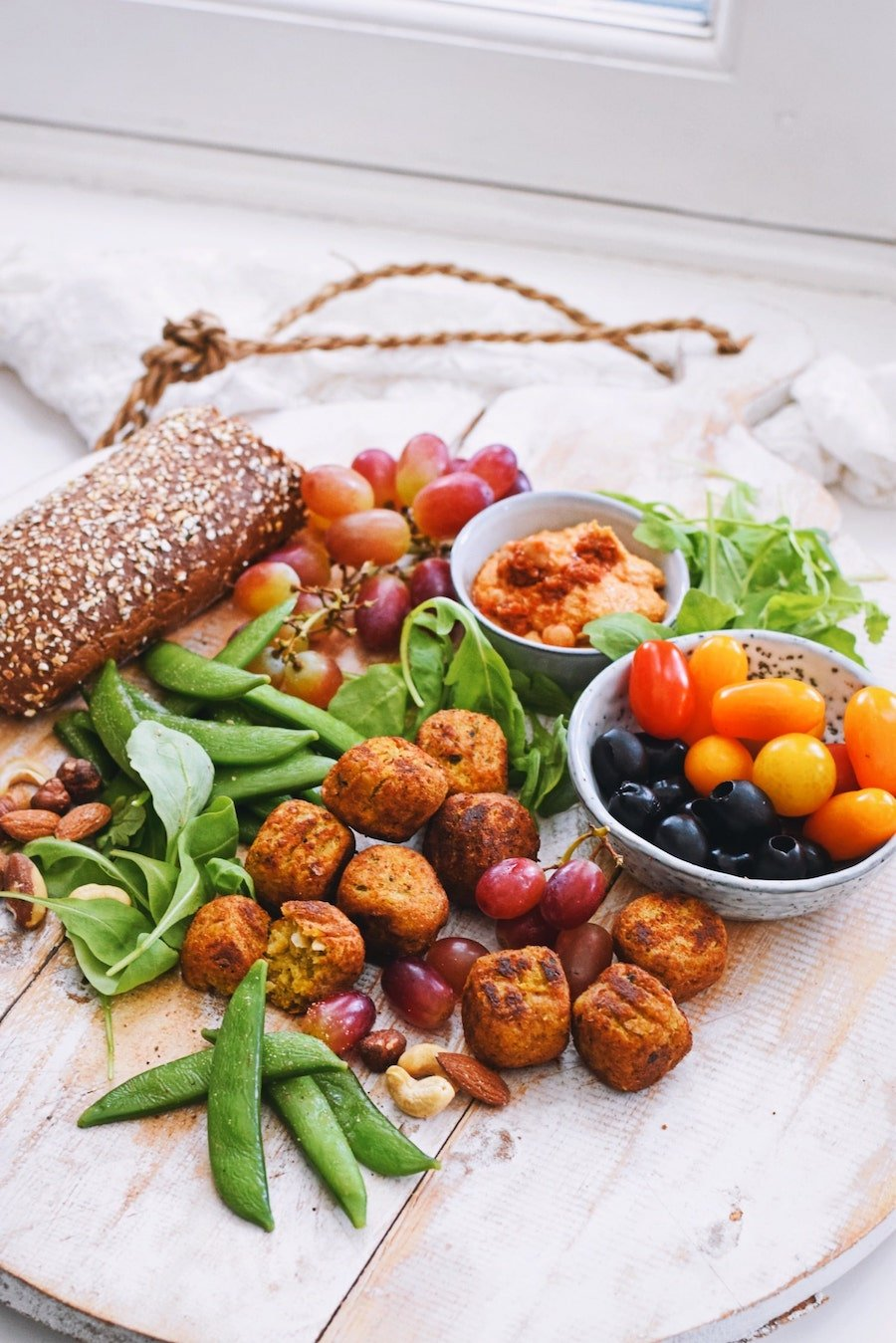 Vegetarische borrelplank | Vegetarische hapjes visite | Healthy Wanderlust