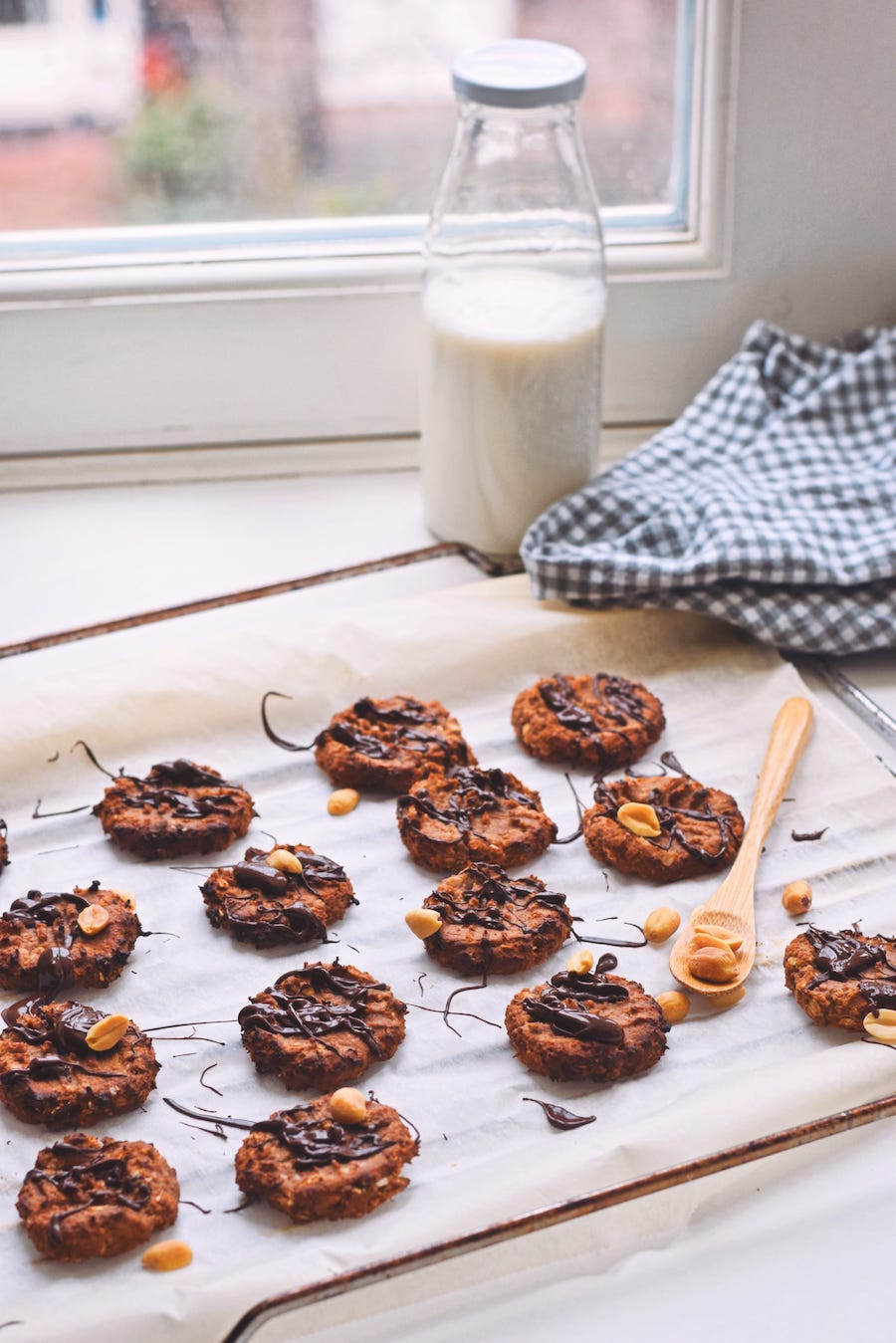 Makkelijke pindakaas koekjes recept | Healthy Wanderlust