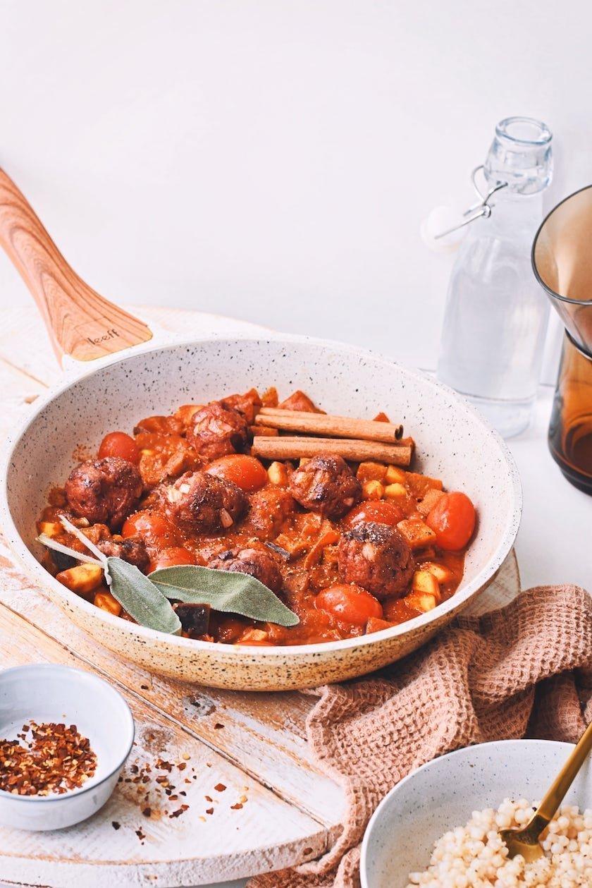 Vegetarische gehaktballetjes schotel | Makkelijke maaltijd