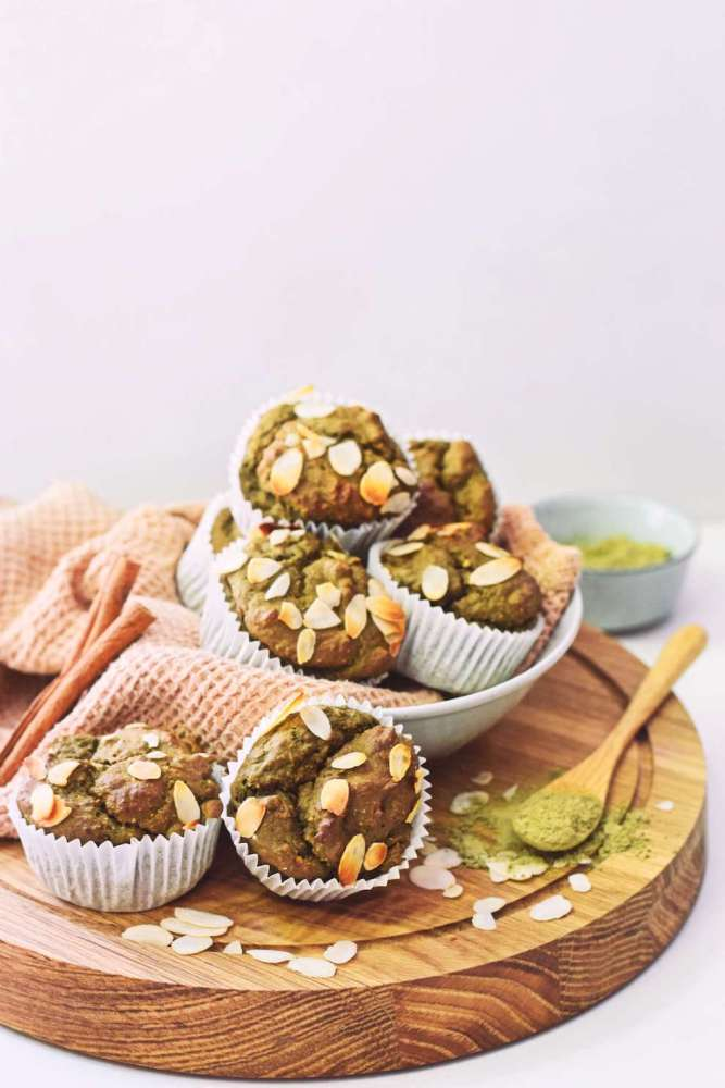 Vegan matcha muffins | Eiwitrijke snack recept