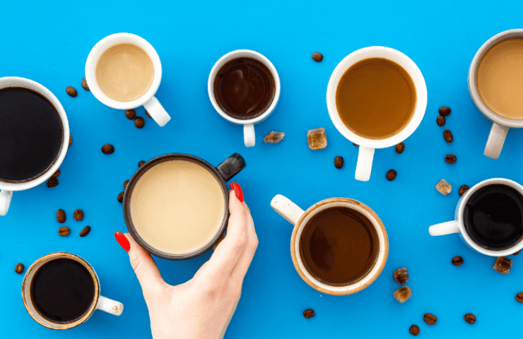 woman drinks too much coffee and is addicted to caffeine