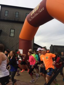 The start of our wave at the Bourbon Chase.