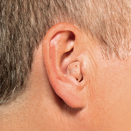 In the canal hearing aid in ear