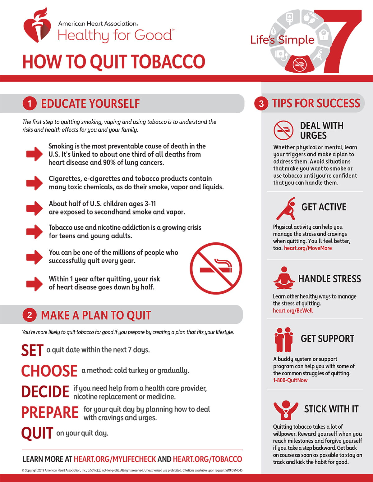 Life S Simple 7 Quit Smoking Infographic