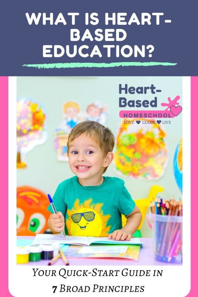 What is heart-based education pinable image