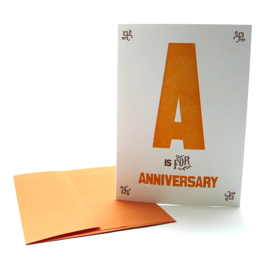 A Is For Anniversary Alphabet Greeting Card Heartfish Press