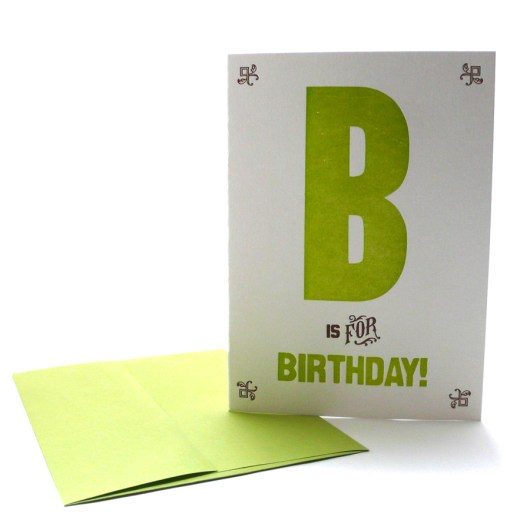 B is for Birthday!