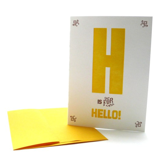 H is for Hello!