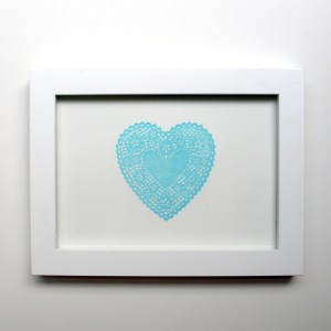 Lace Heart Blue